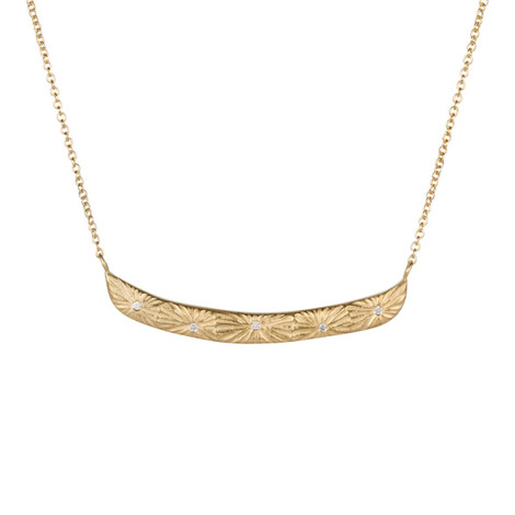 Gold Vermeil and Diamond Necklace