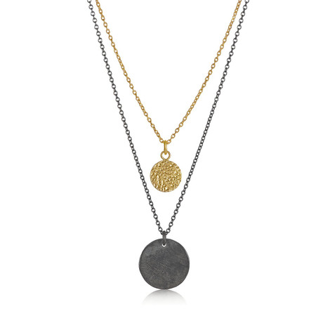 Silver and Gold Layered Necklace