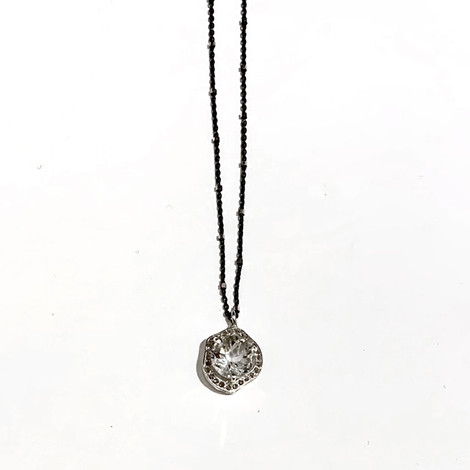 White Topaz and Silver Necklace