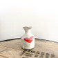 Handmade ceramic creamer with heart