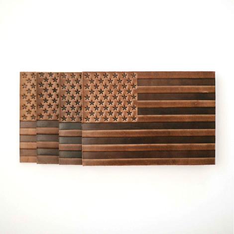 Americana Leather Coasters