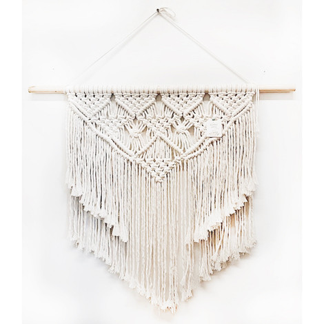 Ivory textured wall hanging