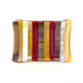 Red Striped Soap Dish