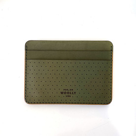 Military Green Leather Wallet