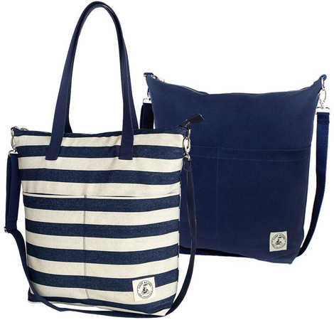 thick stripe tote bag