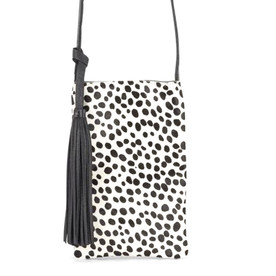 Black and White Cheetah Print Bag
