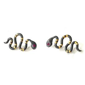 small snake earrings