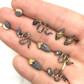 mini gemstone snake earrings