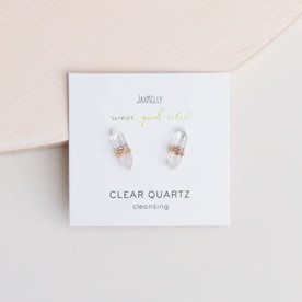 Clear Crystal Wire Wrapped Studs
