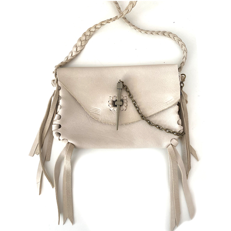 Boho leather bag