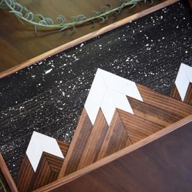 Starry Peaks Serving Tray