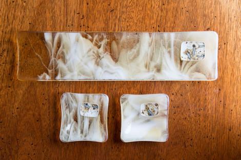 Glass Sushi Set - Amber