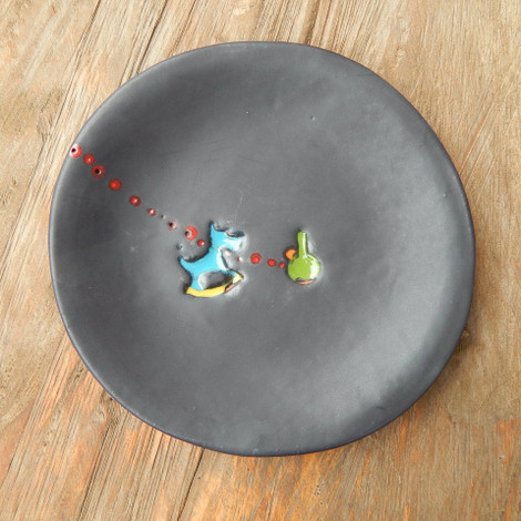 Appetizer Plate with Dog