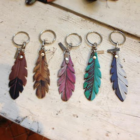 Feather Keychains - Hand Painted