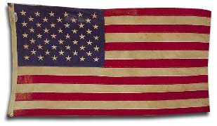 Tea Dyed American Flag with Grommets