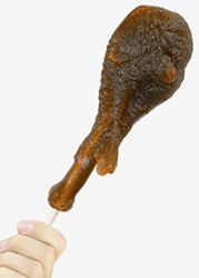 GIANT GUMMY Turkey Leg On a Stick 1/2 LB Cherry