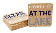 DEI Lake Life Cork Coaster Set of 6