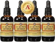 J.CROW'S Lugol's Solution of Iodine 2% 2 oz Four Pack (4 Bottles)