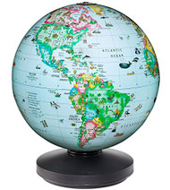 Replogle Rotating Desktop Globe Illuminated, Blue