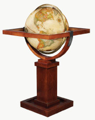 Replogle Wright Floor Globe, Antique