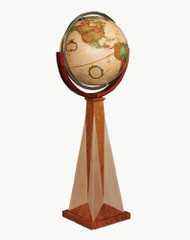 Replogle Obelisk Floor Globe, Antique