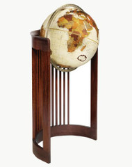 Replogle Barrel Floor Globe, Bronze Metallic