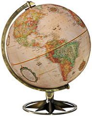 Replogle Compass Rose Desktop Globe, Antique