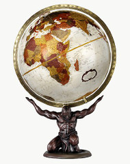 Replogle Atlas Desktop Globe, Bronze Metallic