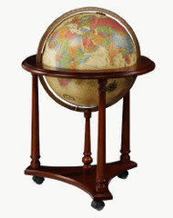 Replogle Lafayette Illuminated Floor Globe, Antique
