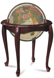 Replogle Queen Anne Illuminated Floor Globe, Antique