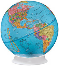 Replogle Apollo Desktop Globe, Blue
