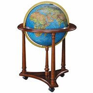 Replogle Lafayette Illuminated Floor Globe, Blue