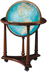 Replogle Kingsley Floor Globe, Antique