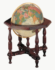 Replogle Statesman Illuminated Floor Globe, Antique