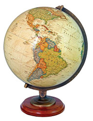 Replogle Adams Illuminated Desktop Globe, Antique