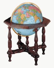 Replogle Statesman Illuminated Floor Globe, Blue
