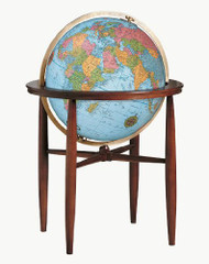 Replogle Finley Illuminated Floor Globe, Blue