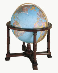 Replogle Diplomat Illuminated Floor Globe, Blue