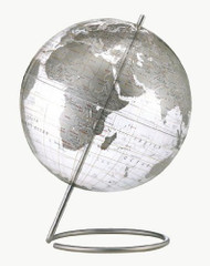 Replogle Crystal Marquise Desktop Globe, Clear Silver