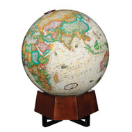Replogle Beth Sholom Illuminated Desktop Globe, Antique