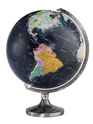 Replogle Orion Illuminated Desktop Globe, Black