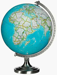 Replogle Bartlett Illuminated Desktop Globe, Blue
