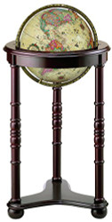 Replogle Lancaster Illuminated Floor Globe, Antique