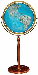 Replogle Chamberlin Illuminated Floor Globe, Blue
