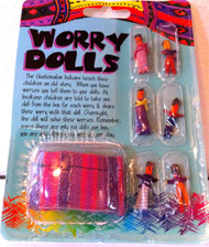 Guatemalan Worry Dolls 6 Count