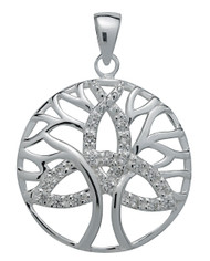 Starlinks Brilliant Silver Trinity Tree of Life Pendant for Unity