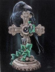 Lisa Parker The Fallen Raven Canvas Art Print by Lisa Parker 7 x 10