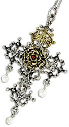 Eastgate Resource Hampton Court Rosy Cross for Faith and Devotion Amulet