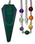 Starlinks Blood Stone Chakra Pendulum with Satin Bag and Instruction Leaflet