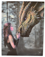 Anne Stokes Once Upon A Time Canvas Art Print by Anne Stokes 7 x 10